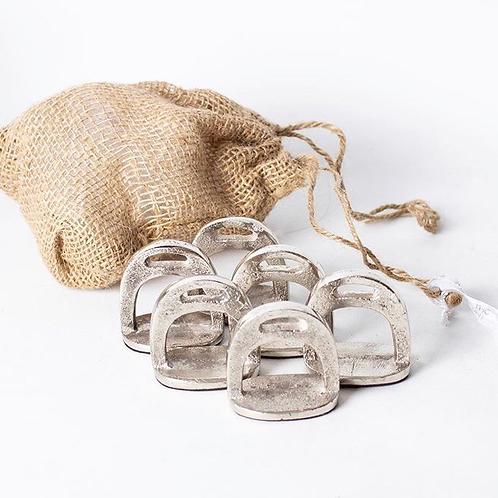 Servettringar & Julgranshänge silver