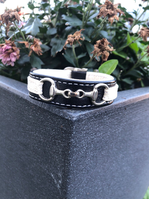 Armband liter Bett svart/vit