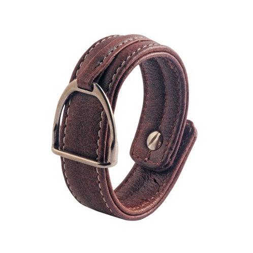 Armband Stigbygel brun