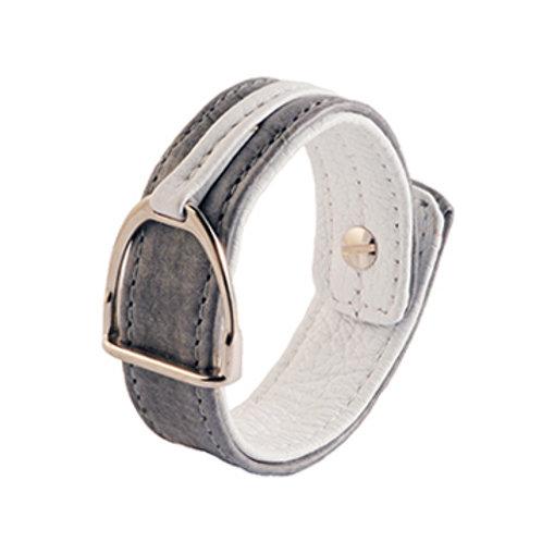 Armband Stigbygel grå/vit