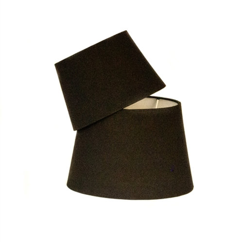 Lampskärm oval svart