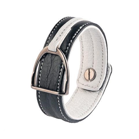 Armband Stigbygel svart/vit