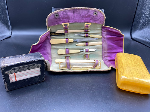 Manicure Set, Telephone index, Soap Holder Bundle