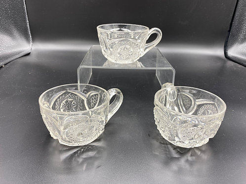 Pressed Glass Punch Cups