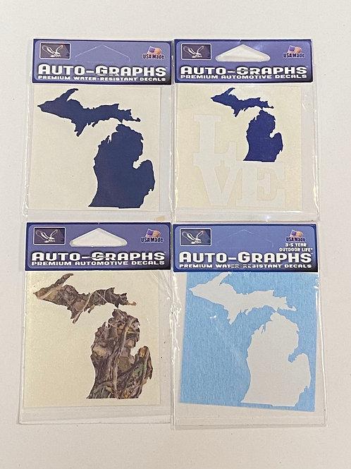 Auto-Graphs Small Michigan Stickers