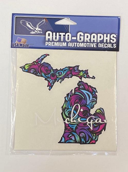 Michigan Pattern Sticker