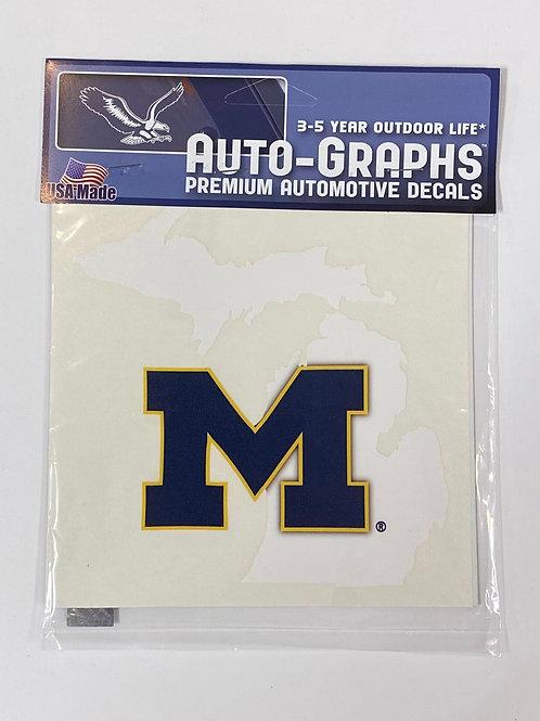 Michigan Blue M Sticker