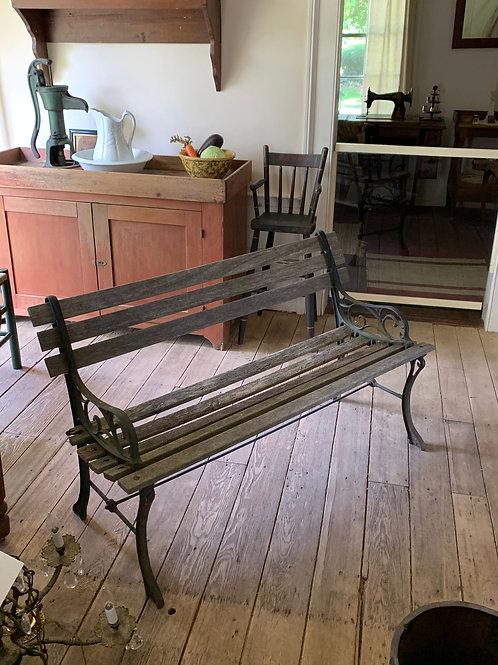 Vintage 4 ft park bench