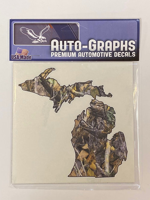Michigan Camo Sticker