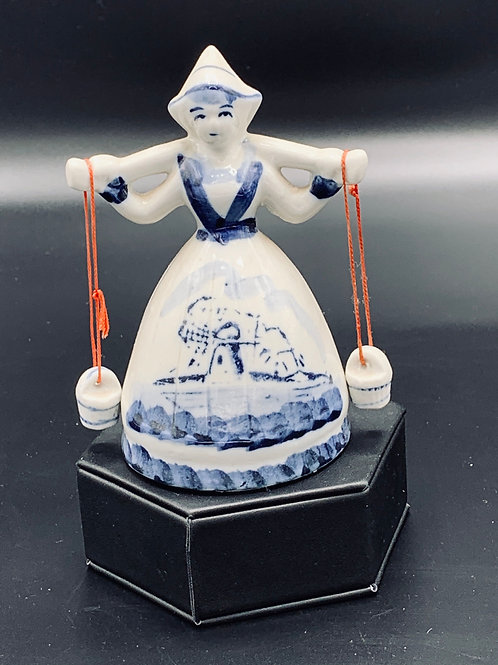 Small Delft Dutch Girl Bell