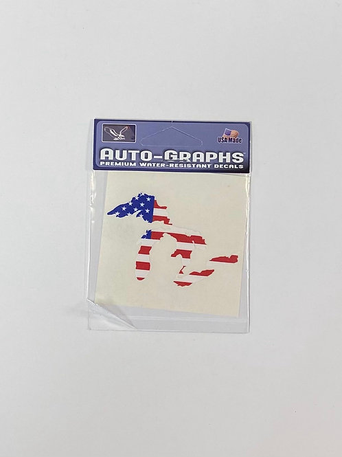 Great Lakes American Flag Sticker