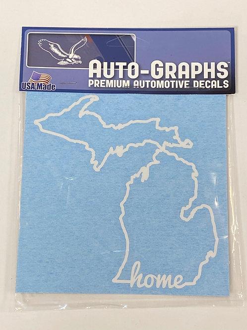 Michigan Home Outline Sticker