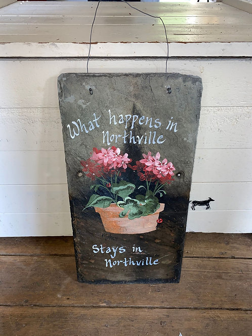 Hand painted Northville Sign