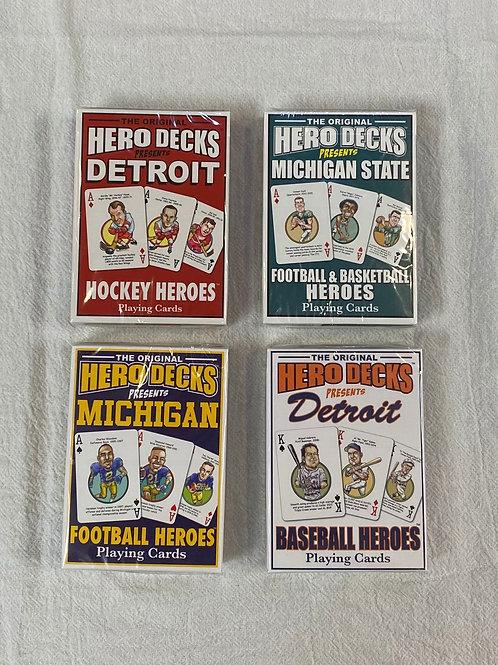 Assorted Packs of Michigan Hero Decks