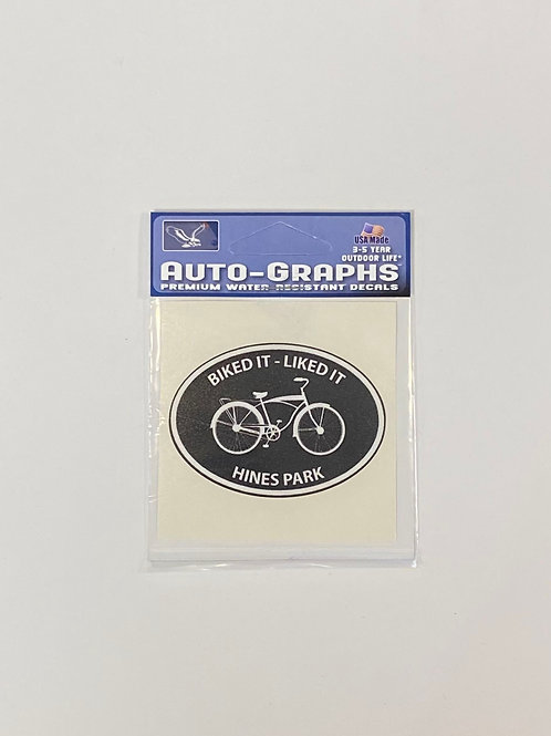 Hines Park Bike Sticker