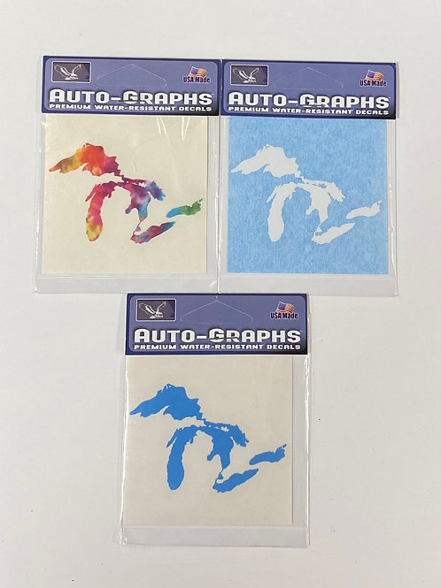 Small Michigan Outline Stickers