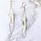 Thumbnail: RAW CRYSTAL QUARTZ | drop earrings