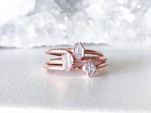 TINY HERKIMER DIAMOND | stacking ring