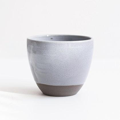 """Kaffeebecher """"Grau-Blau"""" rund"""