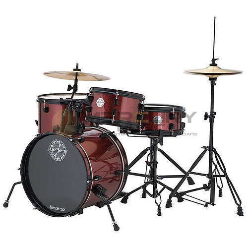 BATERIA PARA NIÑOS LUDWIG POCKET KIT Red Wine Sparkle