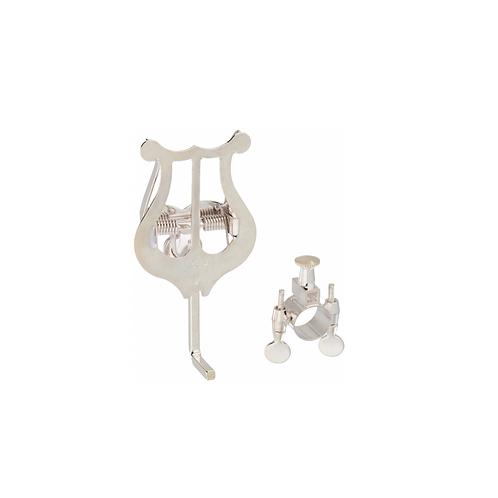 LIRA TROMPETA Bach Trumpet Lyre Clamp-On Silver