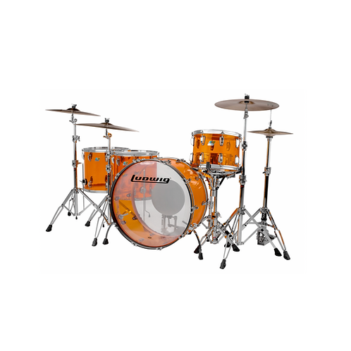 "Shell Pack+Tambor 14"" Ludwig Vistalite "" Zep Set"""