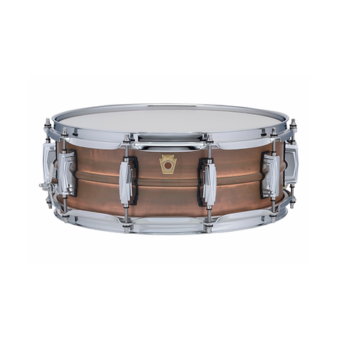 TAMBOR LUDWIG COPPERPHONIC 14X5 RAW NATURAL PATINA, IMPERIAL LUGS