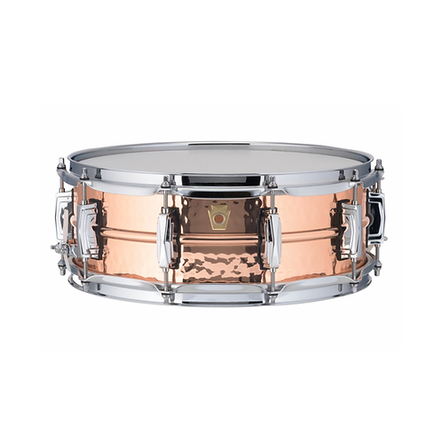 TAMBORLUDWIG COPPERPHONIC 14X5 CASCO HAMMERED SMOOTH POLISHED, IMPERIAL LUGS