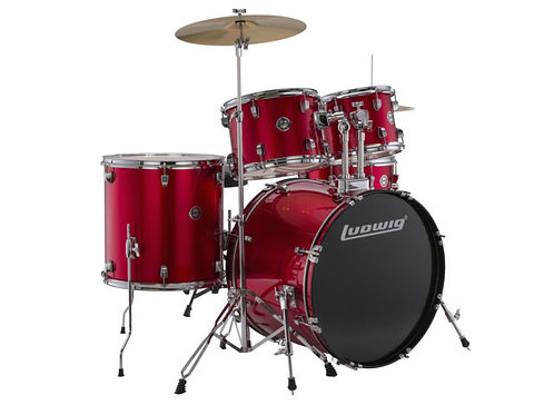 BATERIA ACCENT LUDWIG COLOR Red Foil