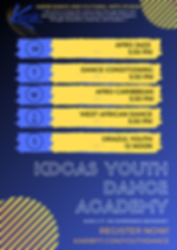 _KDCAS YOUTH DANCE ACADEMY class schedul