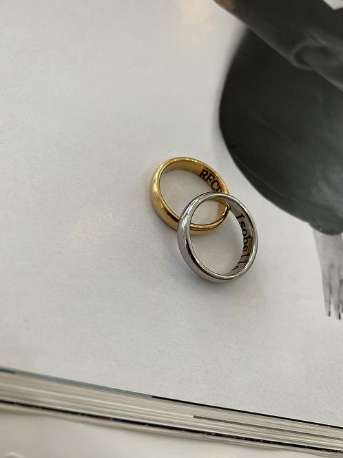 Dúo anillos bicolor
