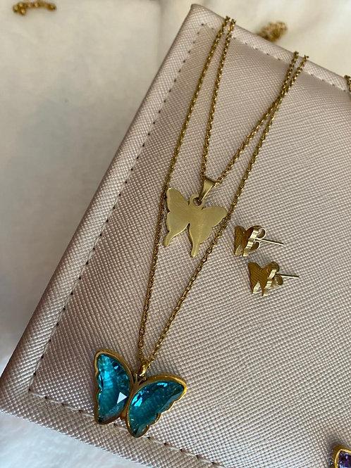 Cadena mariposa azul