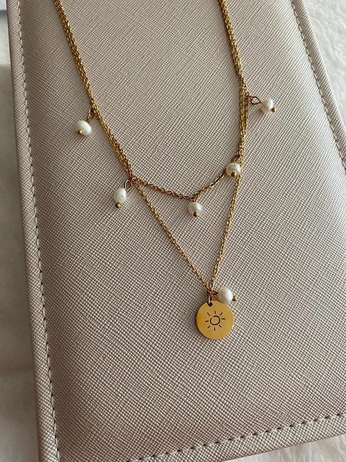 Cadenita de sol con perlas
