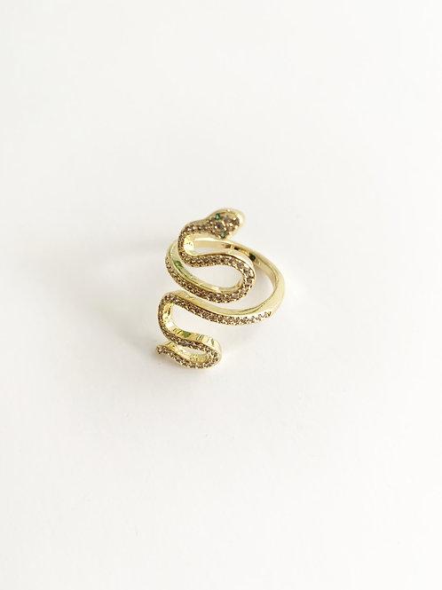 Anillo ajustable serpiente