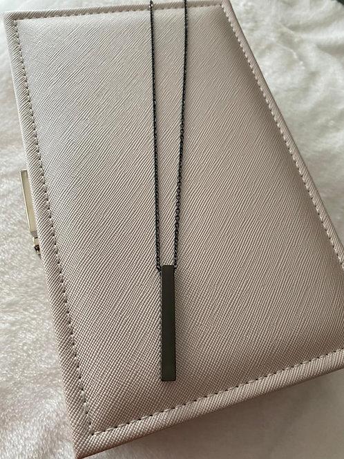 Cadena placa negra personalizada