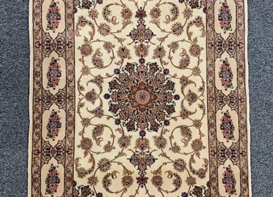 Persian Isphahn Wool and Silk on Silk