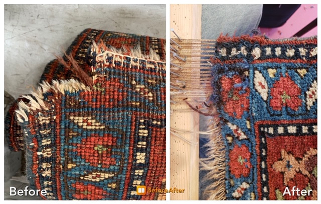 Can antique Oriental & Persian area rugs be rewoven?