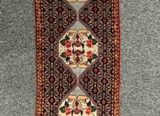 Bidjar Runner Rug Wool on Cotton