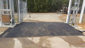 raise asphalt under gate - Bickley - Perth hills