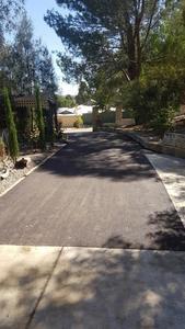 new red bitumen driveway - Greenmount Perth hills