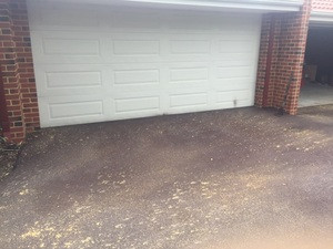 Driveway resurface - red bitumen