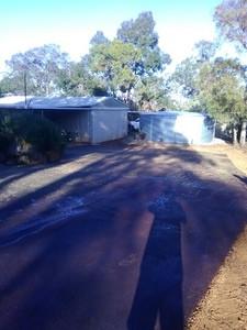 Red Hotmix Driveway
