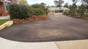 red bitumen driveway - Bedfordale - Perth Hills