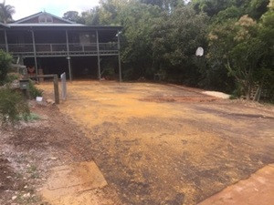 Red bitumen driveway - Kalamunda - Perth hills
