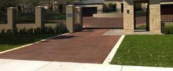 red bitumen driveway