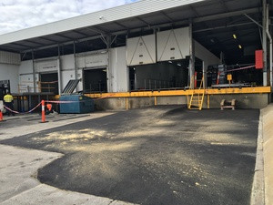 Completed loading ramp - Bentley - Perth industrial