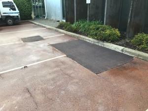 Red asphalt carpark repairs - Perth - Bentley