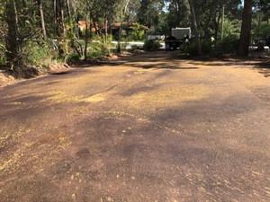 Red asphalt driveway - Perth Hills - Kalamunda