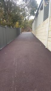 red gravelpave bitumen driveway