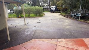 Red oxide asphalt driveway and parking area - Darlington Perth hills